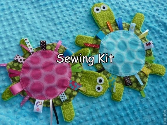Ready to ship- DIY- Yertle the Turtle- Sewing Kit- pdf nstructions- Crinkle Crackle Toy- pattern. $9.99, via Etsy.