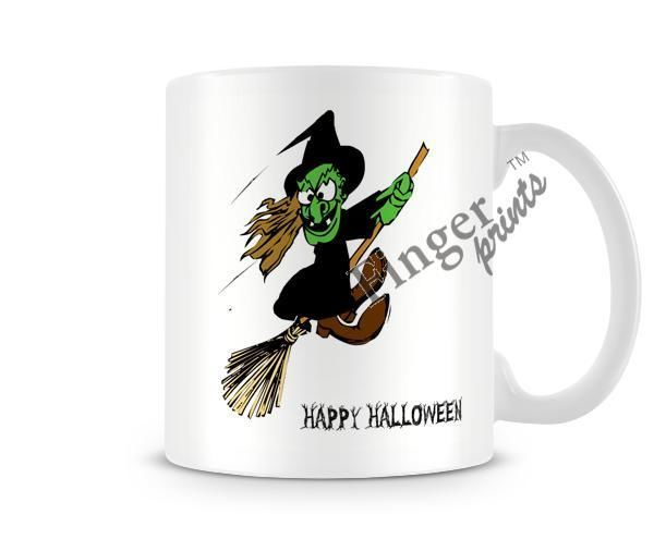 Details About Decorative Writing Happy Halloween Witch On