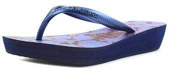 Havaianas Highlight Ii Women Open Toe Synthetic Blue Flip Flop Sandal.