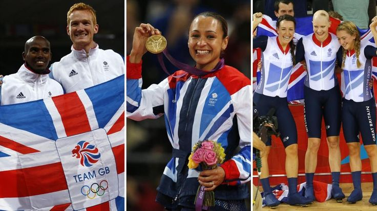 From L to R, Mo Farah, Greg Rutherford, Jessica Ennis, Dani King, Jo Rowsell…