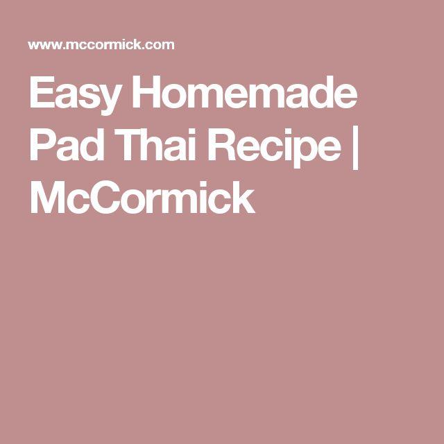 Easy Homemade Pad Thai Recipe   McCormick