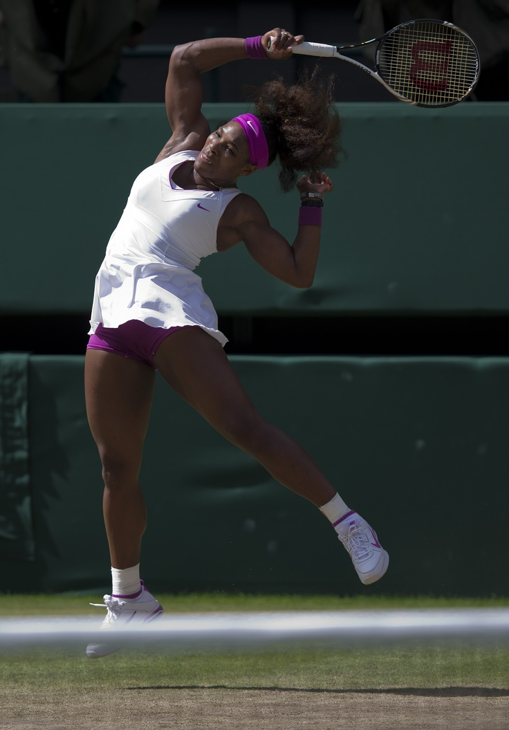 Serena Williams during her semifinal match against Victoria Azarenka at the 2012 Wimbledon Championships.  Serena is set to play for the Washington Kastles during the 37th season of World TeamTennis.
