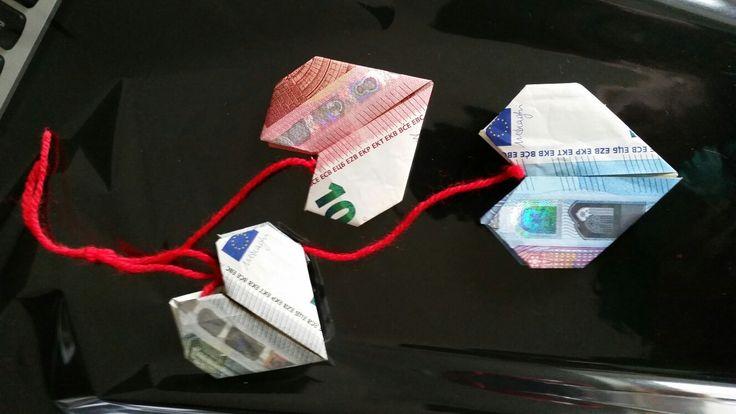 Geldscheine Herzen