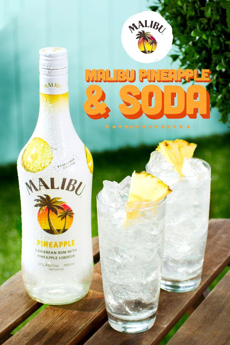 Malibu Pineapple & Lemon-lime Soda | Recipe | Pineapple ...