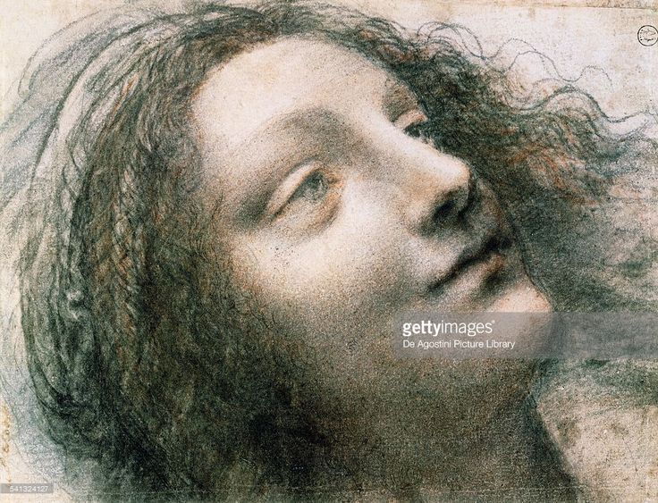 Head of the Virgin, 1508-1512, by Leonardo da Vinci