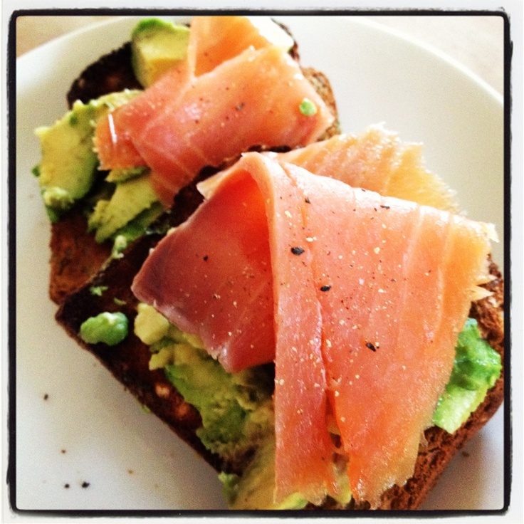 12wbt smoked salmon and avocado on toast for breakfast - yummy! Thx Michelle Bridges!