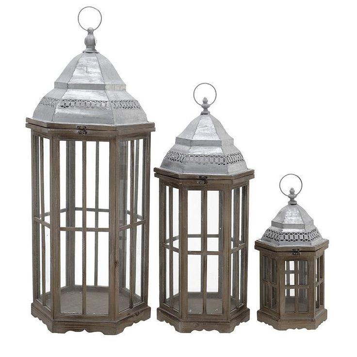 Wooden Lantern - inart