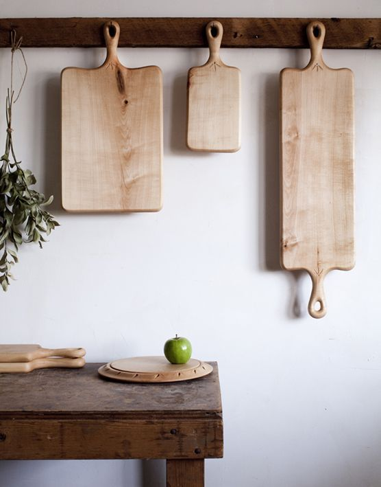 Hanging cutting boards