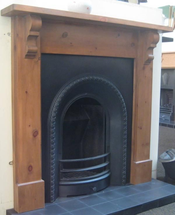 pine surround and arch insert