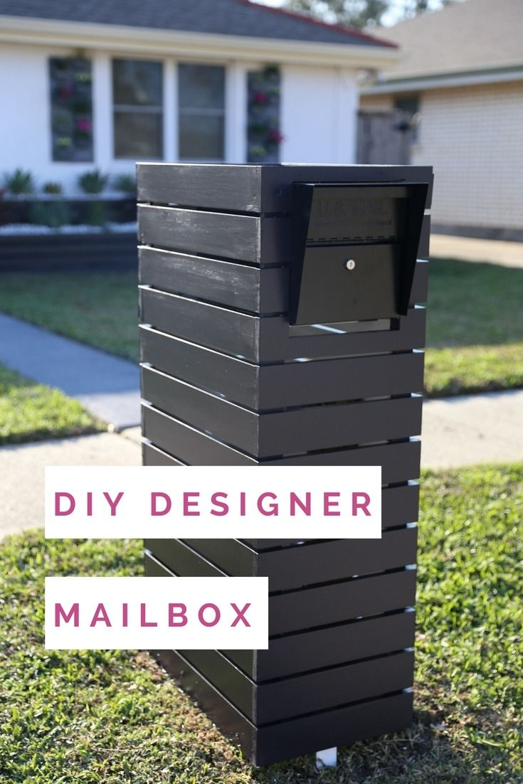 Tie Your Exterior Look Together And Create A Modern Focal Point With A  Customized Mailbox