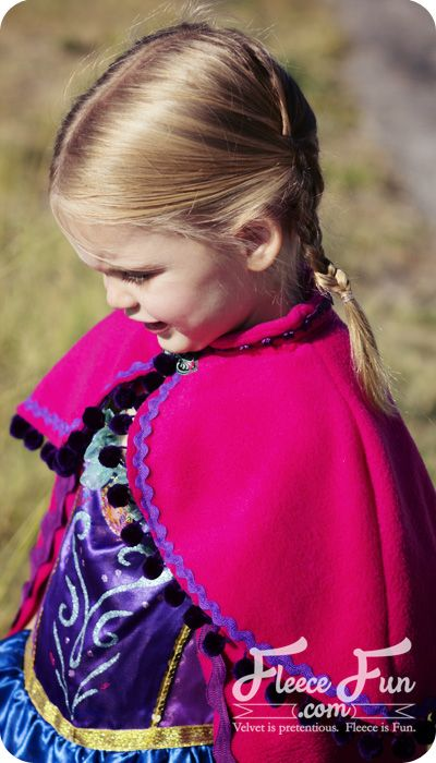 New Free Pattern: The Snow Princess Cape inspired by Princess Annas Cape For Kinsey and Haley