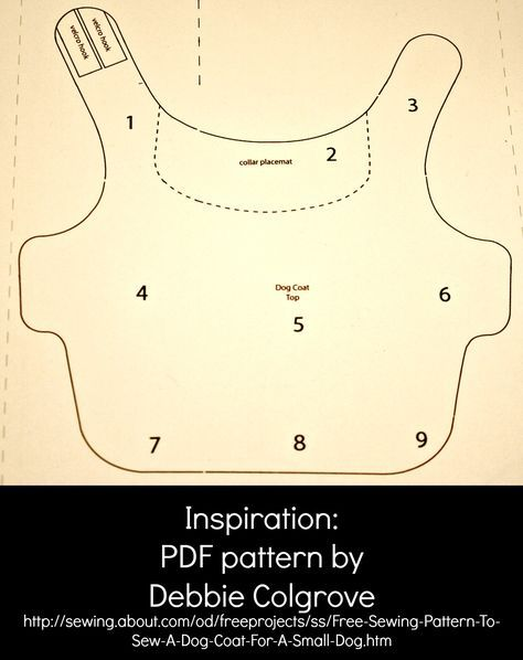 pattern for a 12 pound dog coat | ... little coat i found this free pattern that was for a very small dog
