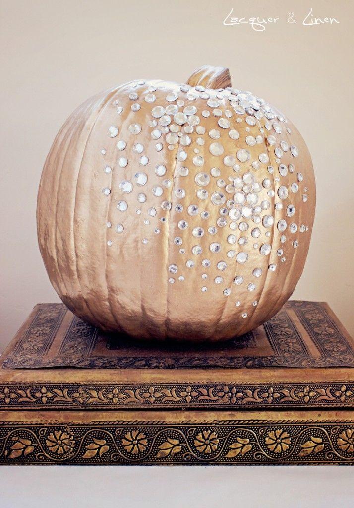 Pumpkin Bling gold spray paint.