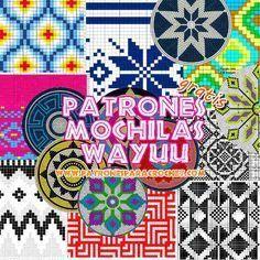 colección de motivos para técnica tapestry mochilas wayuu