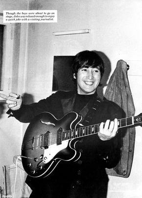 John Lennon backstage in Munich, 24 June 1966.