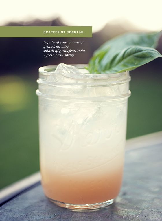 grapefruit + tequila: Tequila Cocktails, Health Food, Summer Drinks, Grapefruitcocktail, Grapefruit Fresh, Grapefruit Tequila, Mason Jars, Grapefruit Cocktails, Fresh Fruit