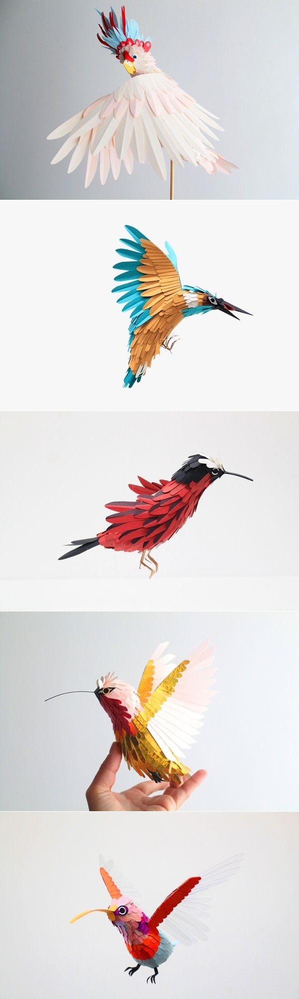I can\'t find the trail to this artist! Wonderful work with cut paper ...