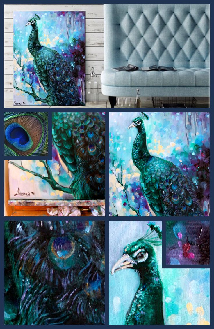Peacock painting for your home. Add some luxury to your life. You deserve the best things.