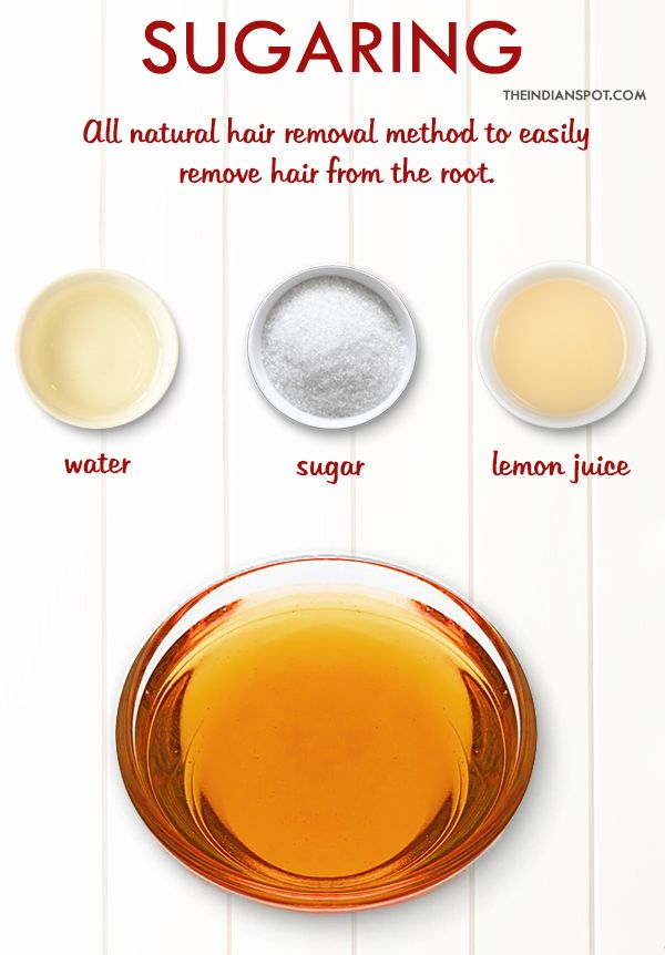 SUGARING: Hair removal at home > alternative to waxing; I've also seen videos on YouTube of people using brown sugar | theindianspot.com