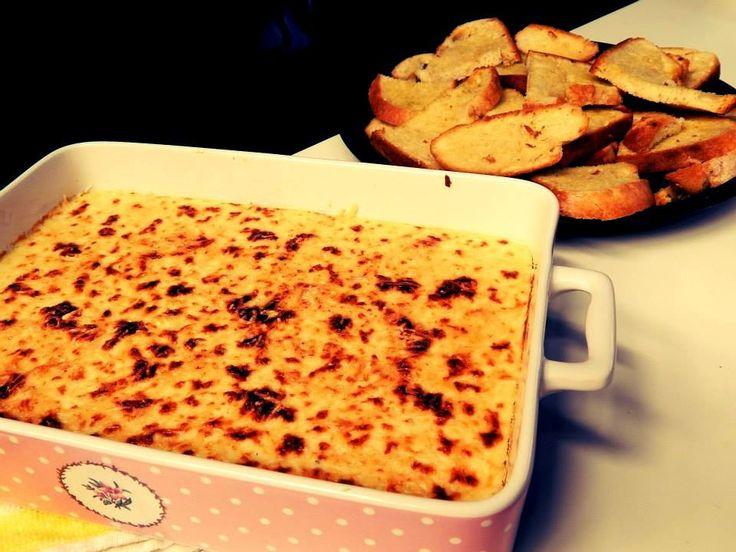 Brandade de Bacalhau com Broa em fatias de Pão frito