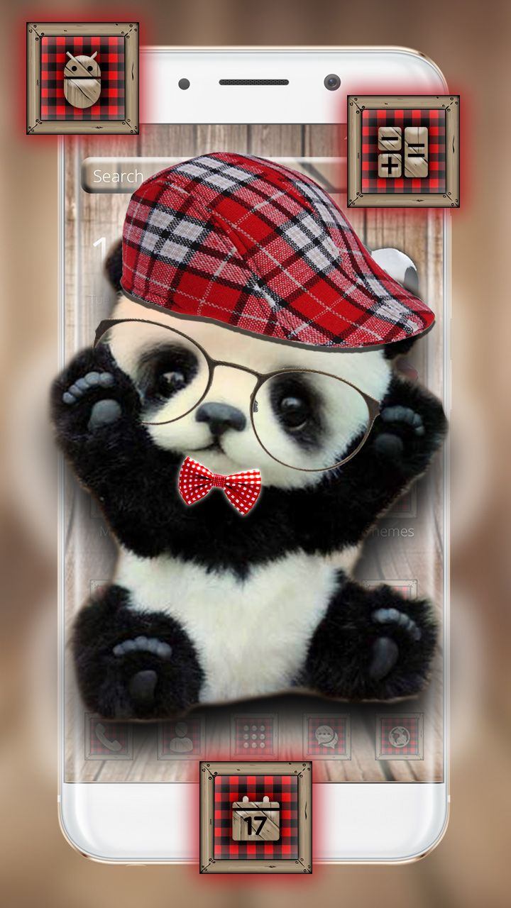 Cute Panda Theme And Wallpaper Android Wallpaper For Panda Lovers With Matching Icons Pack Cartoon Wallpaper Funny Wallpapers Wallpaper