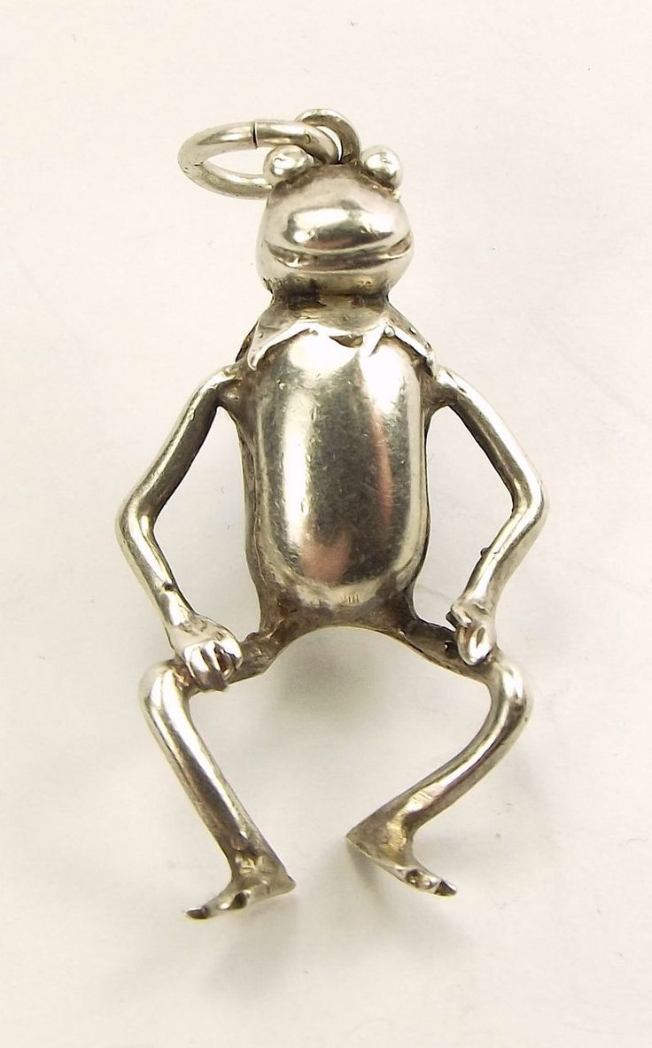 The year I was born... Vintage Silver Charm Large KERMIT The FROG Hallmark 1978