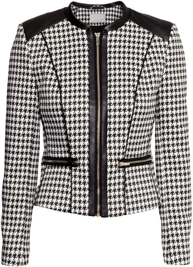 H&M - Fitted Jacket - Houndstooth - Ladies
