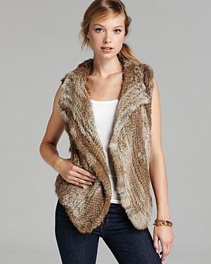 Hour vest // faux fur