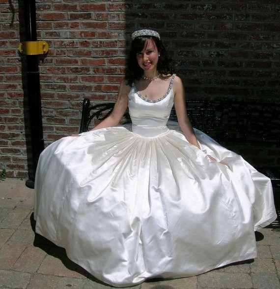 39 best brides images on pinterest wedding night brides for Slipper satin wedding dress