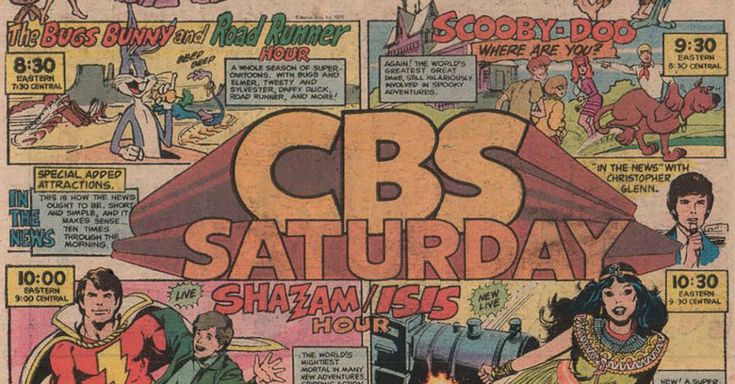 The CBS Saturday morning cartoon lineup, 1976. http://metv.com/stories/this-is-what-the-saturday-morning-tv-lineup-looked-like-40-years-ago