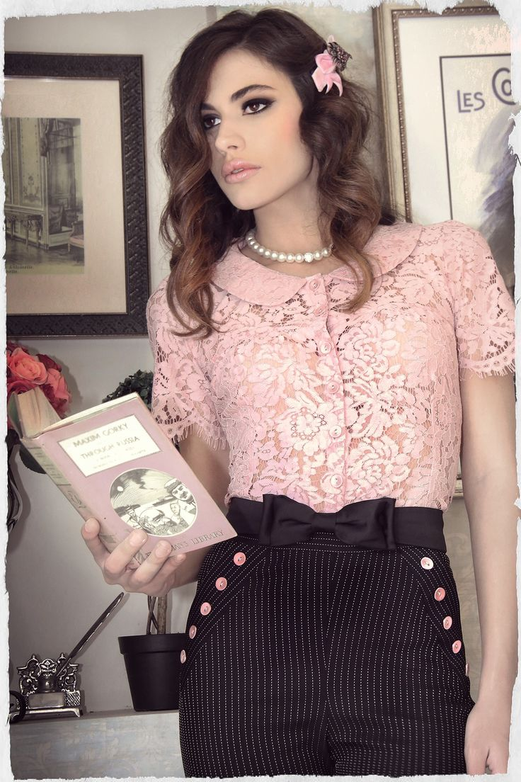 Black Coffee Lace Blouse (Pink)