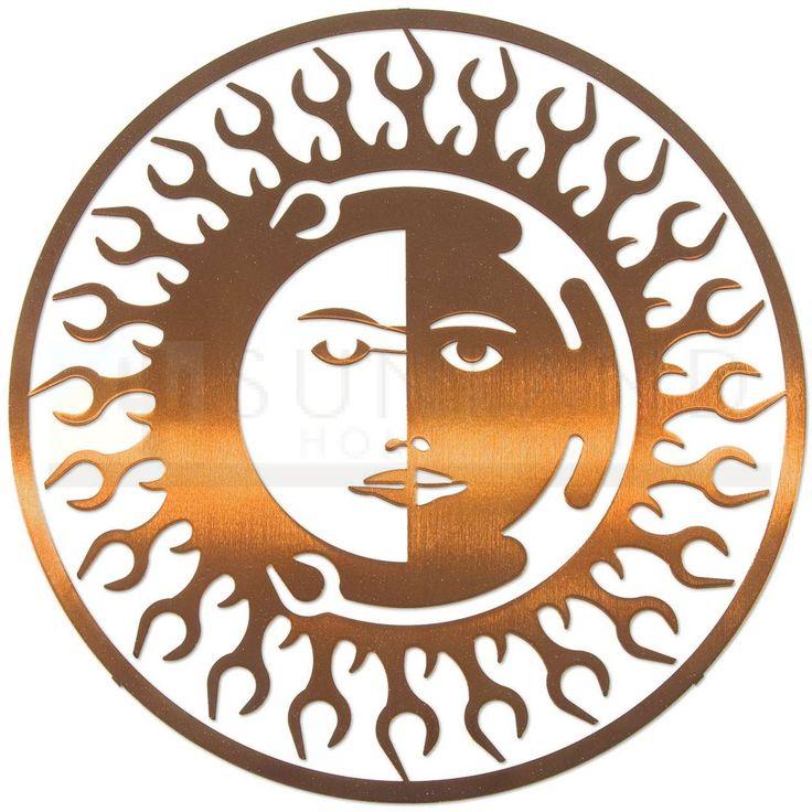 8in Sun Moon Fire Wall Art