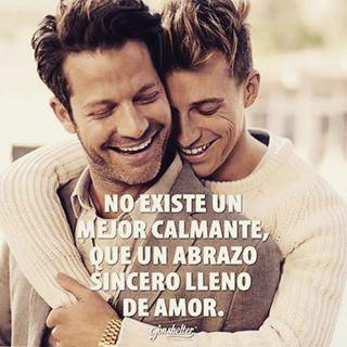 No existe un mejor calmante... #Frases #Amor #Abrazos #Caricias #Pasión #Novios #Amigos #Relación #Juntos #Unión #Pareja #Dos #Gay #Homme #Men #Hombres
