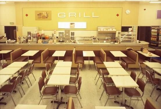 Good evening Kmart shoppers. Don't forget to stop by the Grill for some tasty treats -- 1970s
