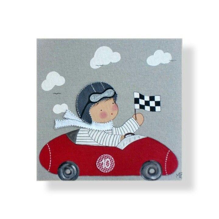 Cuadro de corredor de coches