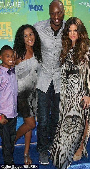 Khloe kardsahian and Lamar Odon and his kids