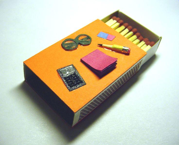 Caja de fósforos decorada