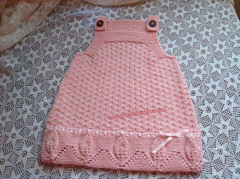 Buenos días, Os pongo las instrucciones para realizar este precioso vestido talla 6-9 meses que como veis a Mara le sienta de maravilla. ...
