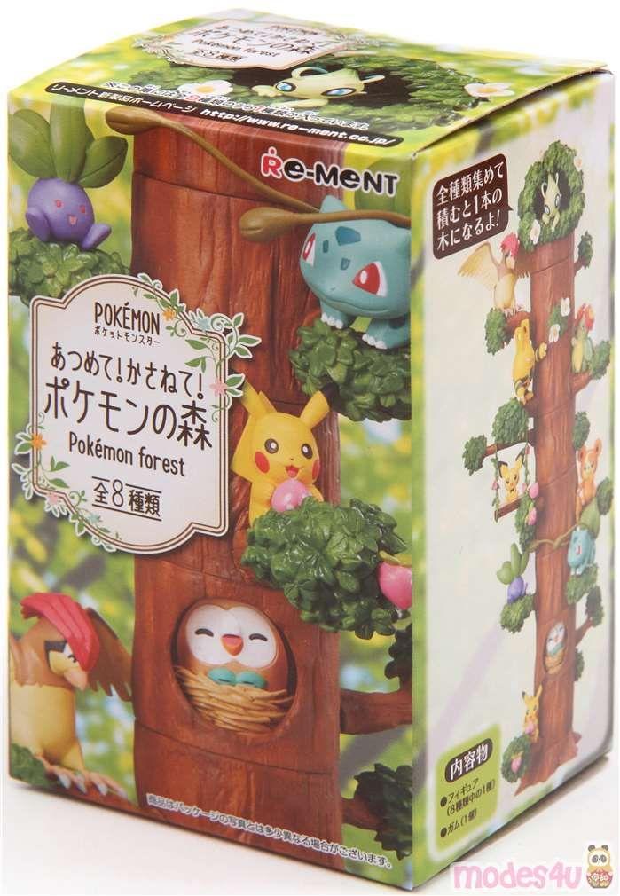 8PCS//Set Pokemon Miniature Forest Tree Collection Pikachu Figures Toy No Box