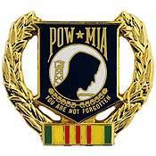 POW*MIA Wreath pin - Meach's Military Memorabilia & More