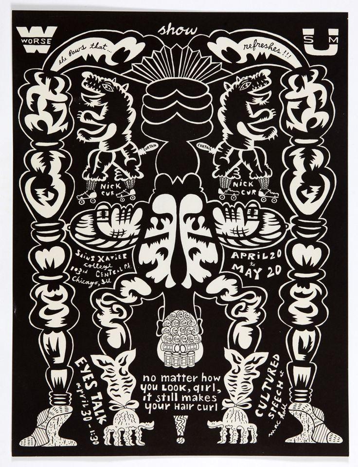 Karl Wirsum. Worse Sum Show exhibition poster, 1970.
