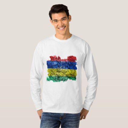 Mauritius Vintage Flag T-Shirt  $25.65  by Soulrider  - cyo customize personalize unique diy idea