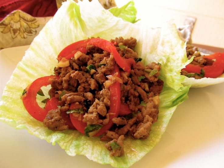 Spicy Thai Basil Chicken Lettuce Wraps...Chocolate Broccoli