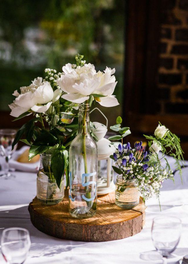 1000 id es sur le th me tables de f te sur pinterest - Decoration champetre pour mariage ...