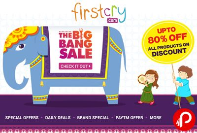 Firstcry #TheBigBangSale is offering Upto 80% off on all products on #Discount. Extra 5% Cashback* on paying through Paytm wallet. Max. Cashback is Rs.100. Firstcry Coupon Code – TBBS50D | TBBS5DP | TBSHUG20  http://www.paisebachaoindia.com/the-big-bang-sale-firstcry/