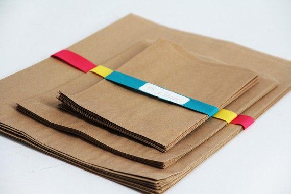 Kraft Paper Bag Assortment Pack Lot of 60 van leboxboutique op Etsy