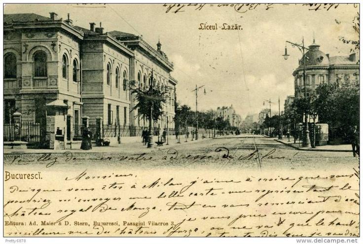 Bucuresti - Liceul Lazar - pe la 1900