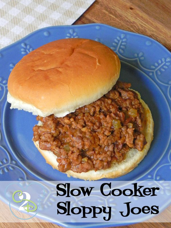 Slow cooker sloppy joes is a perfect alternative to the canned stuff.  This also freezes well so you can double up what you are making and freeze the leftovers for a quick dinner later!