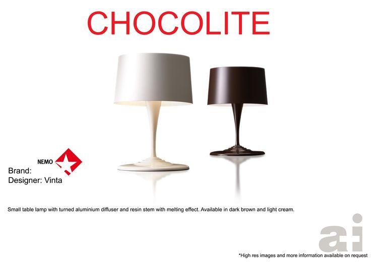 #Nemo #Designer #Vinta #Chocolite #tablelamps #darkbrown #lightcream #truedesign available at www.afritaly.com