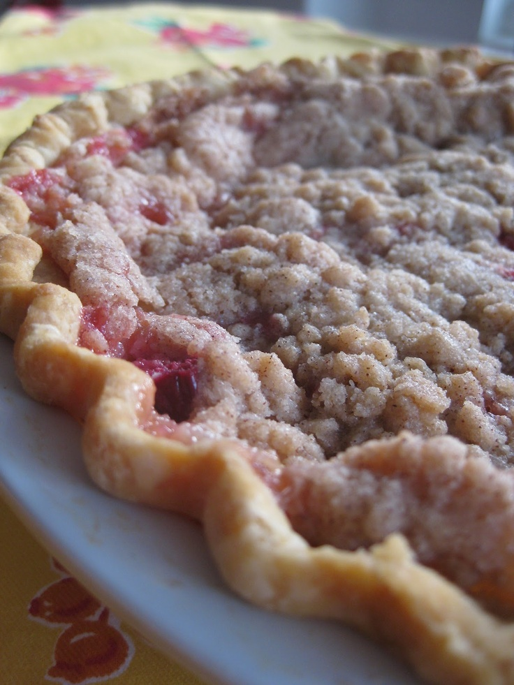 Sour Cream Rhubarb Pie-yummy summer bbq dessert